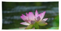 Lovely Lotus In Pink Hand Towel