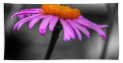 Bath Towel featuring the photograph Lovely Purple And Orange Coneflower Echinacea by Shelley Neff