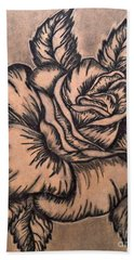Lovely Rose Hand Towel by Francine Heykoop