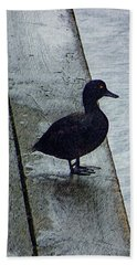 Bath Towel featuring the digital art Lovely Weather For Ducks by Steve Taylor