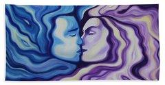 Lovers In Eternal Kiss Bath Towel