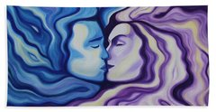 Lovers In Eternal Kiss Hand Towel