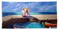 Lovers In The Moonlight Bath Towel
