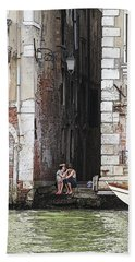 Lovers In Venice Hand Towel
