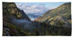 Bath Towel featuring the photograph Lovers Leap Autumn by Mitch Shindelbower