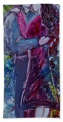 Bath Towel featuring the painting Loving You by Deborah Nell