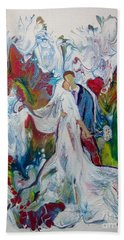 Bath Towel featuring the painting Loving You With All My Heart by Deborah Nell