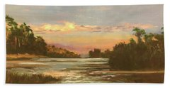 Low Country Sunset Hand Towel
