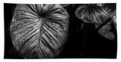 Low Key Nature Background, Textured Plants, Leaves For Decorativ Bath Towel by Jingjits Photography
