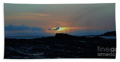 Low Profile Sunset Hand Towel by Craig Wood