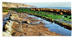 Low Tide At Bowling Ball Beach Bath Towel