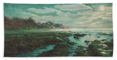 Low Tide At Moonlight Hand Towel