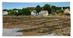 Low Tide At St. Andrews By The Sea Bath Towel