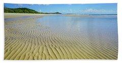 Low Tide Beach Ripples Bath Towel