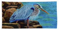 Low Tide Fisherman Bath Towel by Susan Duda