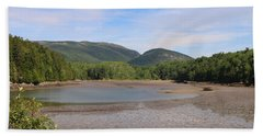 Low Tide In Acadia Hand Towel by Living Color Photography Lorraine Lynch
