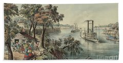 Low Water In The Mississippi, 1868  Bath Towel