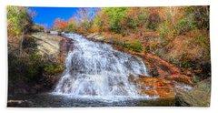Lower Falls At Graveyard Fields Bath Towel