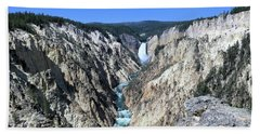 Lower Falls From Artist Point Hand Towel