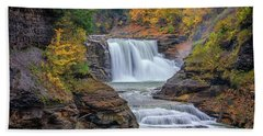 Lower Falls In Autumn Hand Towel