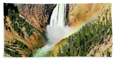 Lower Falls Rainbow Hand Towel by Greg Norrell