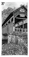 Lower Humbert Covered Bridge 2 Bw Hand Towel