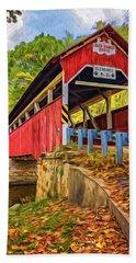 Lower Humbert Covered Bridge 2 - Paint Hand Towel