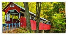 Lower Humbert Covered Bridge - Paint Hand Towel