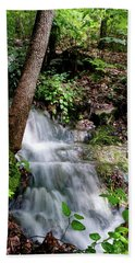 Hand Towel featuring the photograph Lower Massanutten Spring Waterfall 2016 by Lara Ellis