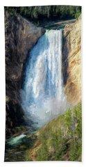 Lower Yellowstone Falls Hand Towel