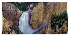 Bath Towel featuring the photograph Lower Yellowstone Falls II by Bill Gallagher