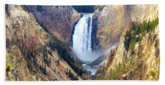 Lower Yellowstone Falls Hand Towel
