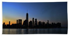 Lower Manhattan At Sunrise Hand Towel