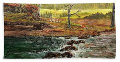 Lowwater Crossing  Bath Towel