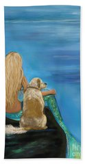 Loyal Mermaids Friend Hand Towel