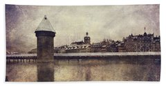 Lucerna, Kapellbrucke Bath Towel