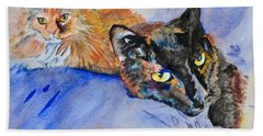 Lucy And Lula Hand Towel by Beverley Harper Tinsley