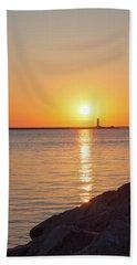 Ludington Sunset Hand Towel