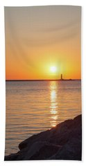 Ludington Sunset Bath Towel