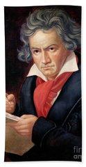 Ludwig Van Beethoven Composing His Missa Solemnis Bath Towel