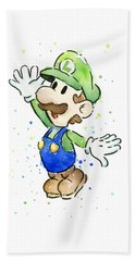 Luigi Watercolor Bath Towel