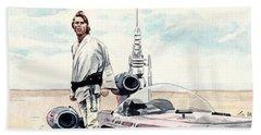 Luke Skywalker On Tatooine Star Wars A New Hope Bath Towel