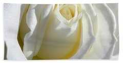 Luminous Ivory Rose Bath Towel