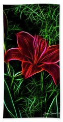 Luminous Lily Hand Towel