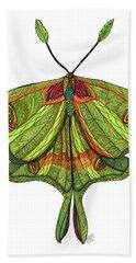 Luna Moth Hand Towel