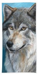 Hand Towel featuring the painting Luna by Sherry Shipley
