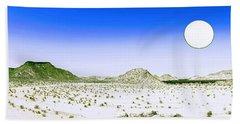Lunar Wilderness Bath Towel by Celestial Images