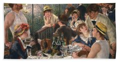 Luncheon Of The Boating Party By Renoir Hand Towel