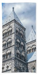 Bath Towel featuring the photograph Lund Cathedral In Sweden by Antony McAulay