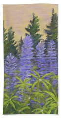 Lupine In The Morning Hand Towel